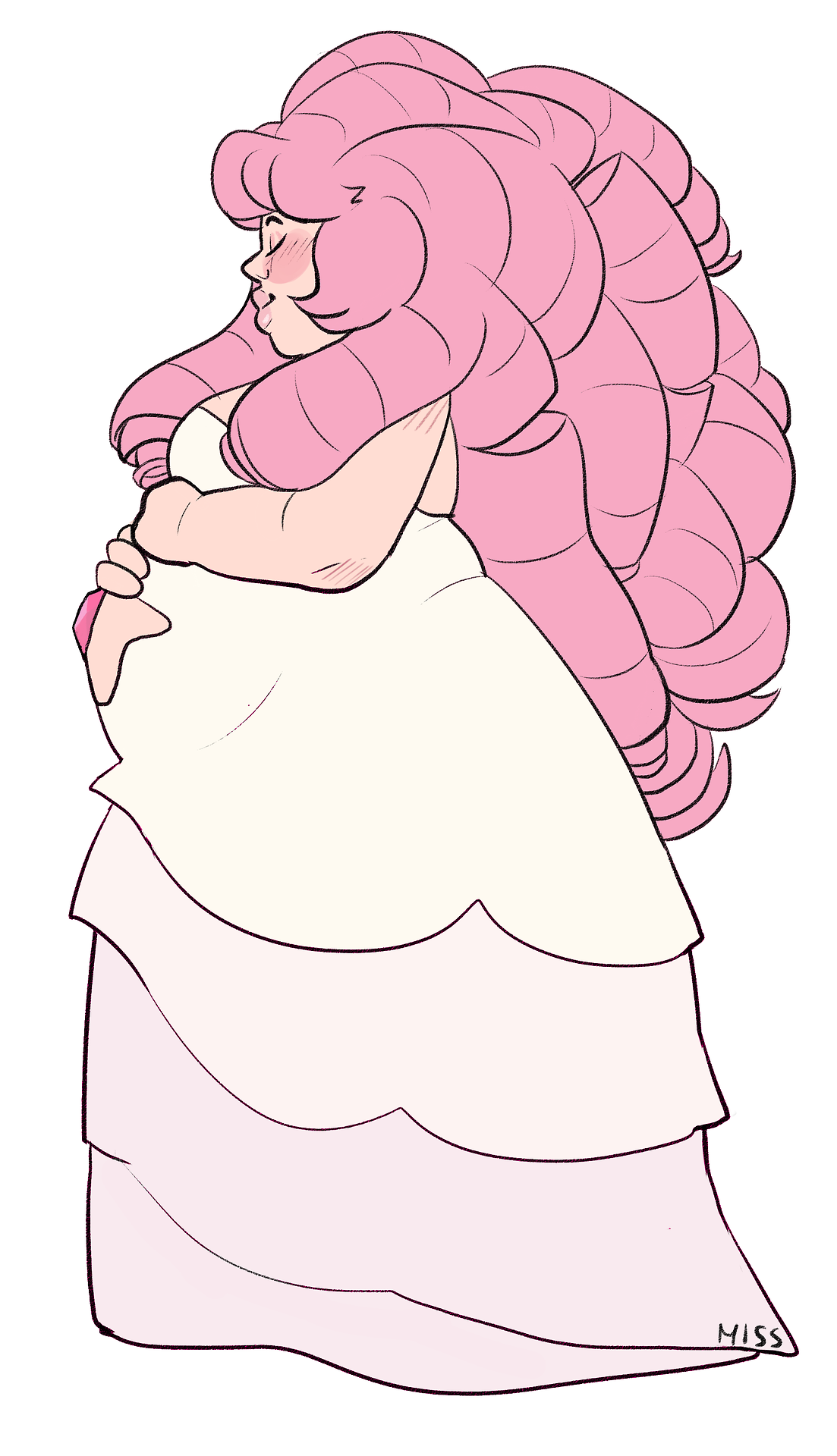 pregnant rose!! i just wanted so have something to post so i did this fast