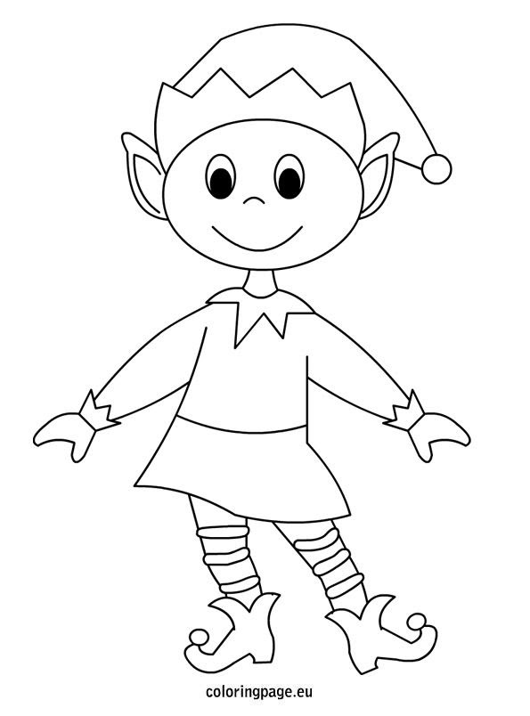 Elf coloring page | Christmas ideas | Pinterest