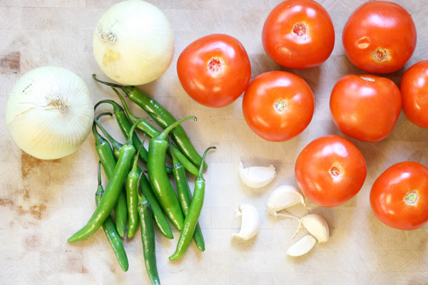 The Best Homemade Salsa - Ingredients