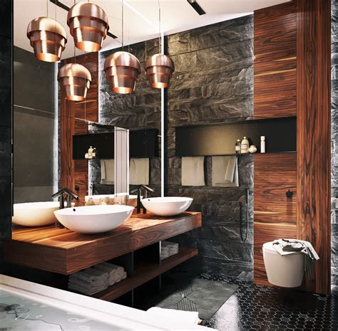 ultra masculine bathroom interior design ideas