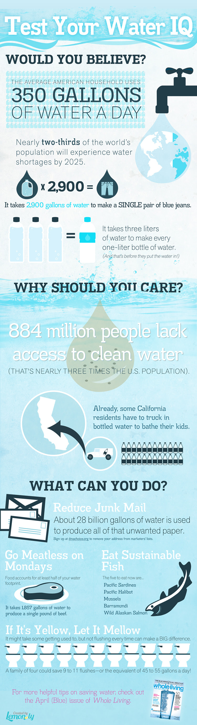 Test Your Water IQ: A World Water Day Infographic - Infographic Design by Lemonly