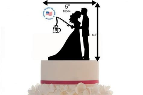 Custom Wedding Cake Topper Personalized Silhouette With