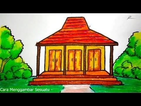 580 Koleksi Gambar Lukisan Rumah Adat Joglo Gratis Terbaik Gambar Rumah