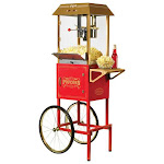 Nostalgia - 40-Cup Vintage Collection 10-Oz. Popcorn Cart - Red