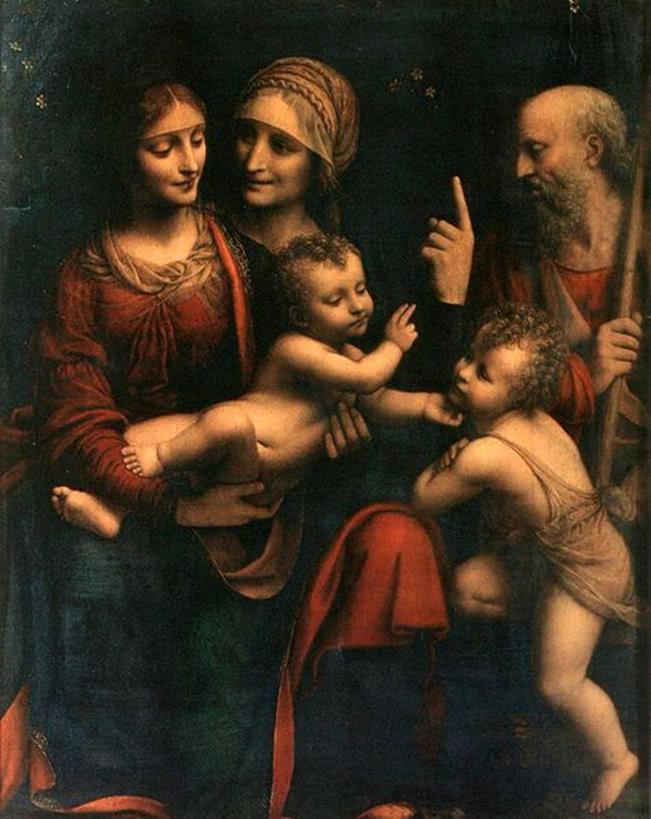 File: B Luini Sacra Famiglia com S Giovannino S Anna Milano Ambrosiana.jpg