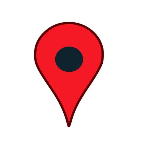 peta lokasi pin  warna merah domain publik vektor