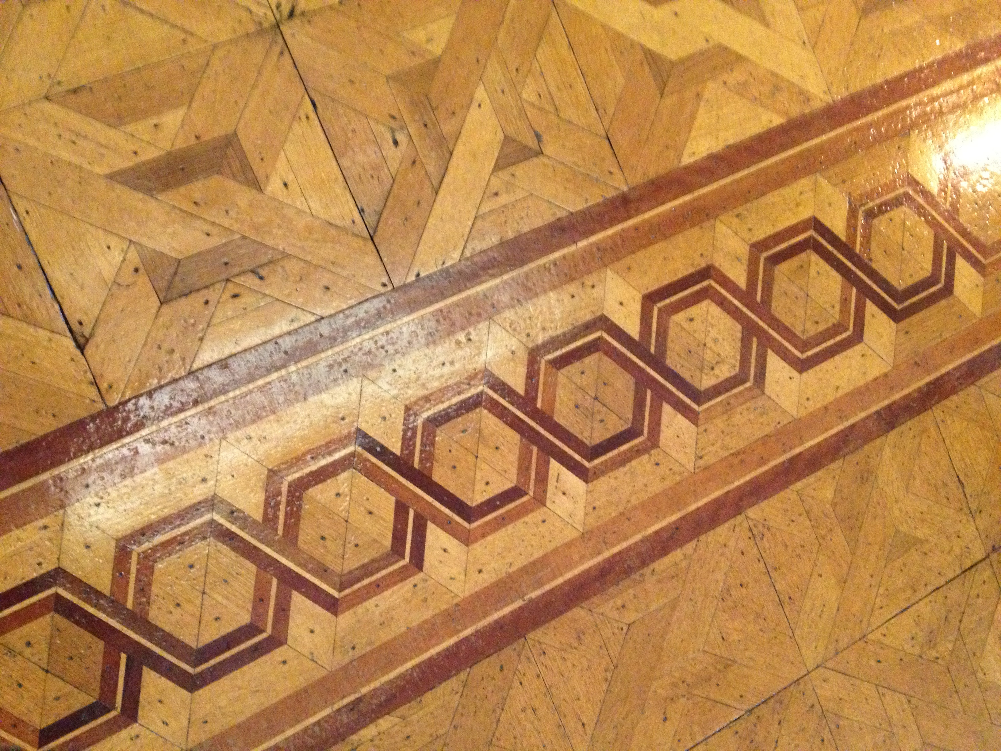 Old Parquet Floors with Inlays - Chattanooga, TN