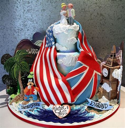 American english Flag Wedding Cake   wedding cake was