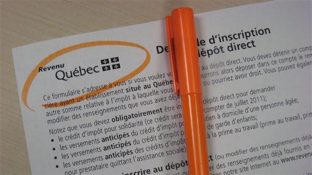 Un formulaire de Revenu Québec (archives)