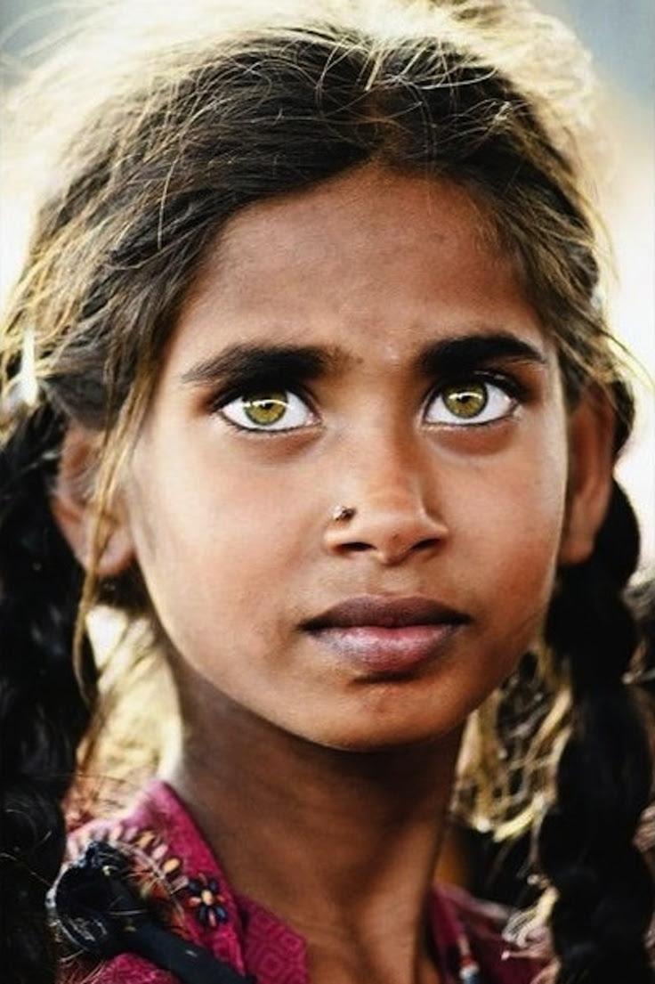Amazing eyes! She's from India