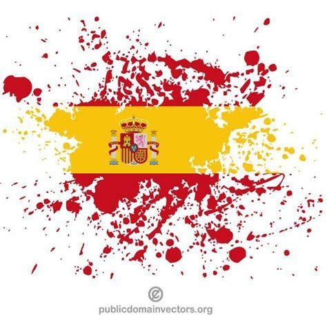 SPANISCHE FLAGGE PAINT SPLATTER   Download bei Vectorportal