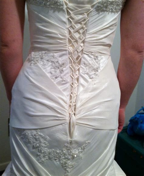 Wedding Gown Alternations ? Corset Back and Bustle