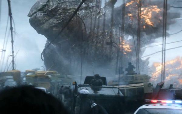 The U.S. military confronts Godzilla in GODZILLA.