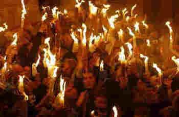 Благодатният огън в Йерусалим