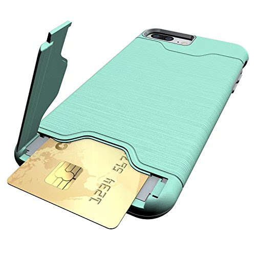 "For iPhone 7 Plus Case,Nakeey iPhone 7 Plus Protective Case Hard Back Protection Cover with Hybrid Bumper Stand Case For iPhone 7 Plus 5.5""(2016),Green"