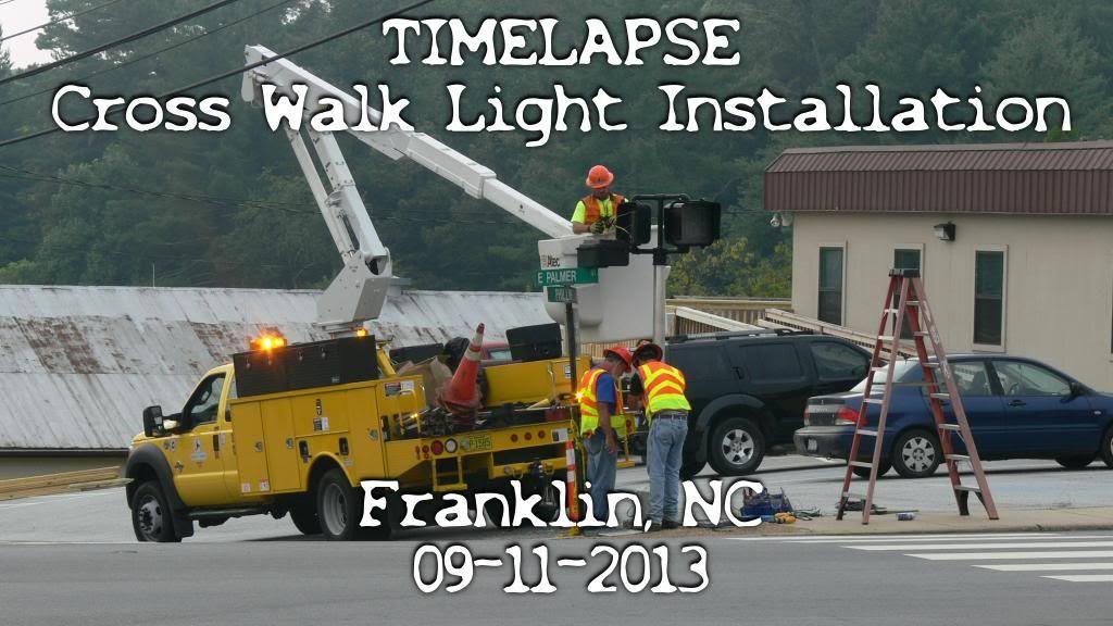 NCDOT Installs Cross Walk Light Photo ©2013 by Bobby Coggins
