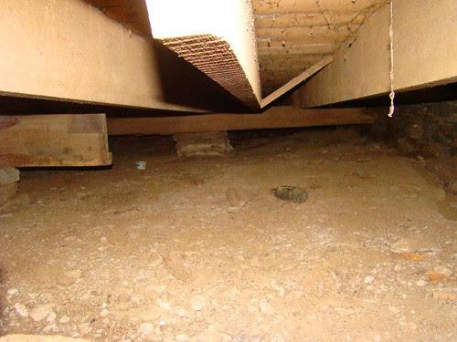 Crawlspace under the barn