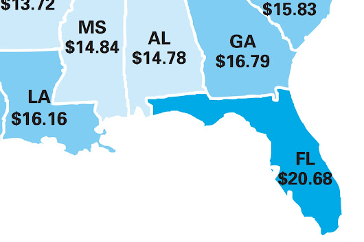 This Map Shows How Much You Need To Earn To Afford Rent In Every State