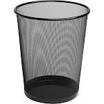 Rolodex - Waste basket - round - 4.5 gal - metal mesh - black