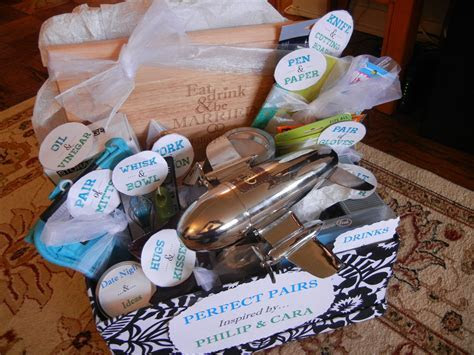 """Bridal Shower gift basket theme """"perfect pair"""" (includes"""