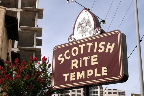 scottish rite temple neon sign