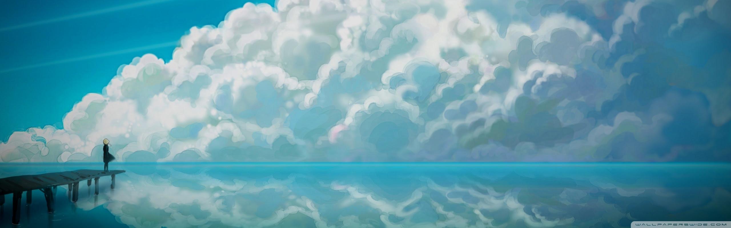 Sky Anime Ultra Hd Desktop Background Wallpaper For Widescreen