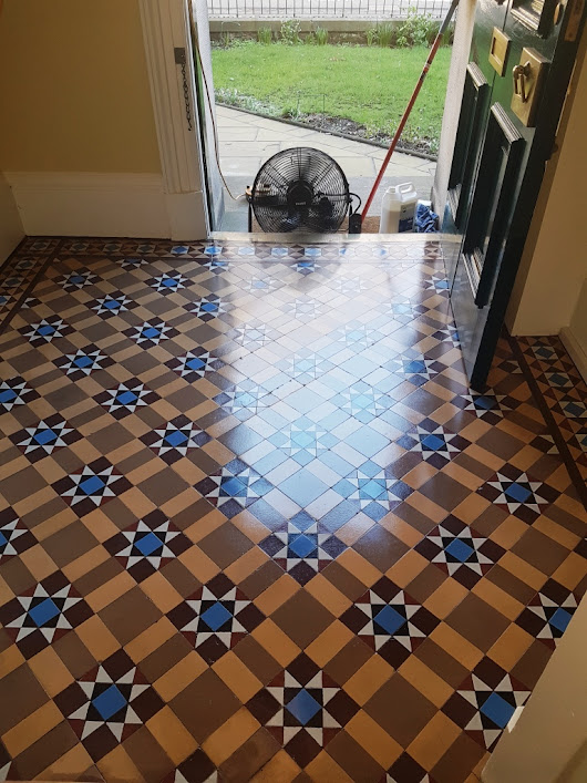 Original Victorian Tiles Refreshed With Deep Clean and Seal in Edinburgh | Edinburgh Tile Doctor