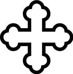 Cruz Trebolada Hueca