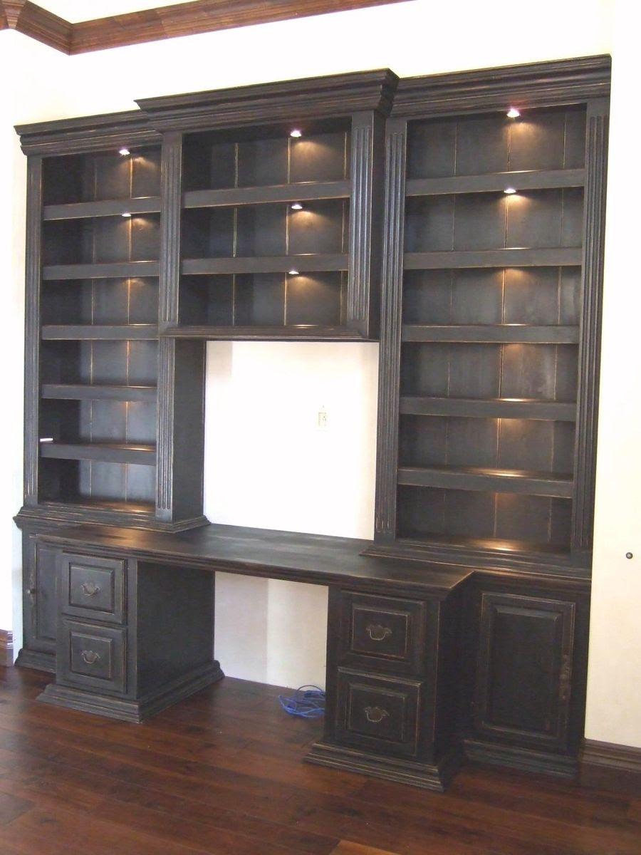 Hand Made Custom Black Painted Finish Wooden Built In Desk ...