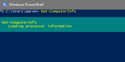 Use Get-ComputerInfo to Replace Wininfo32 > Think PowerShell
