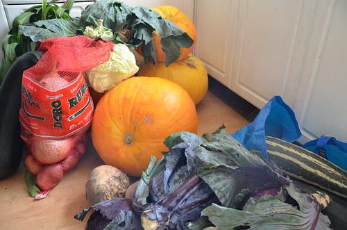 Hurrocks veg Sept 13