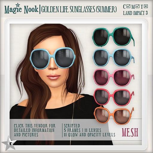[MAGIC NOOK] Golden Life Sunglasses (Summer) MESH