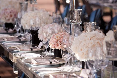 blush pink and ivory rose wedding centerpieces   OneWed.com