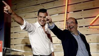 Pedro Sánchez i Miquel Iceta en una imatge d'arxiu (EFE)