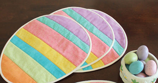 Easter Egg Placemats tutorial from Joann's