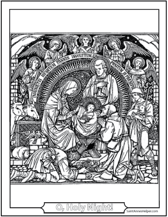 15+ Printable Christmas Coloring Pages: Jesus & Mary ...