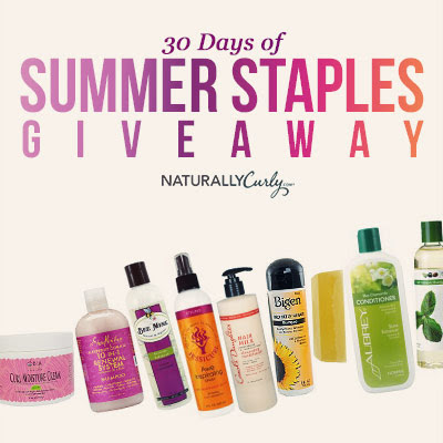 Enter to win Curly Hair prizes: NaturallyCurly's 30 days of Giveaways  http://www.naturallycurly.com/giveaways/NaturallyCurly-June-2015-Giveaway