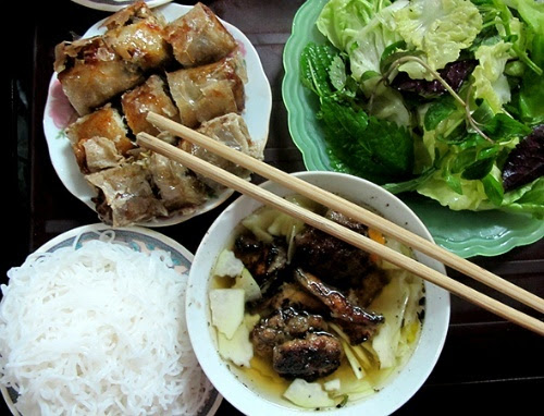 Bun Cha (grilled pork and noodles) listed top 10 best street food in the world