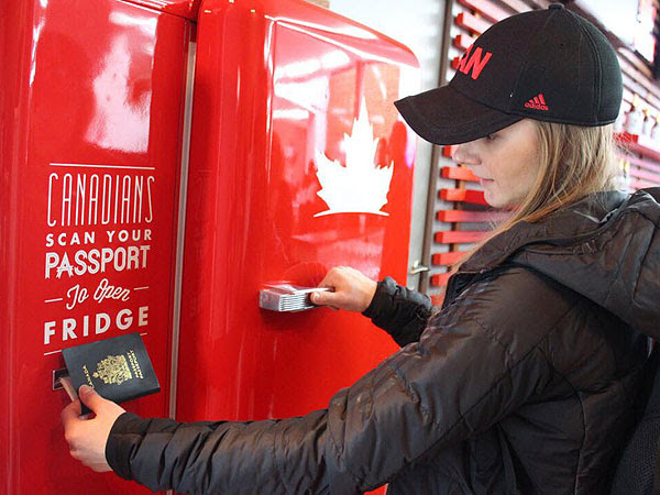 Canadian Olympics Beer Fridge