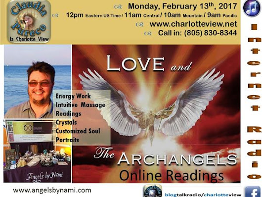 Feb 13 ~ Charlotte View: Angels by Nami Nesterowicz. Love and the Archangels