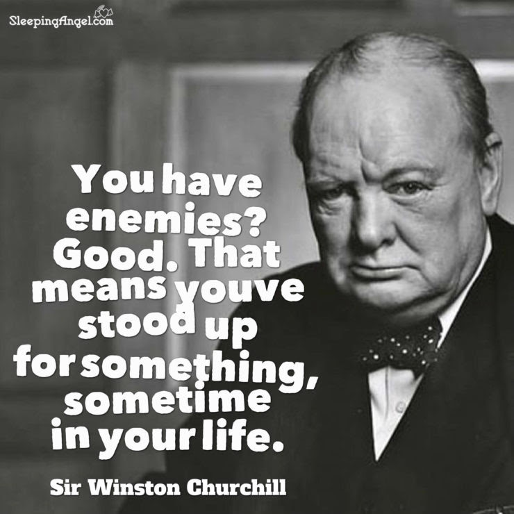 Sir Winston Churchill Quote Sleeping Angel