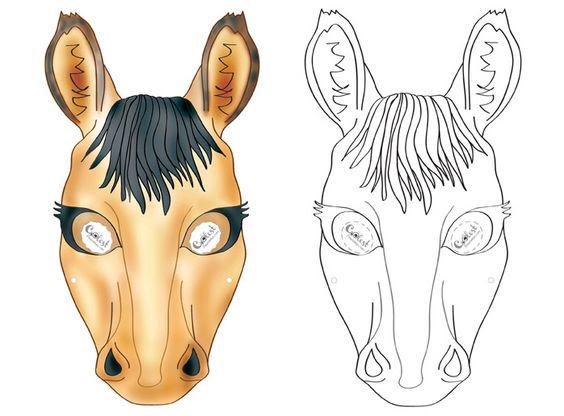 Printable Horse Mask Coolest Free Printables | maski | Pinterest ...