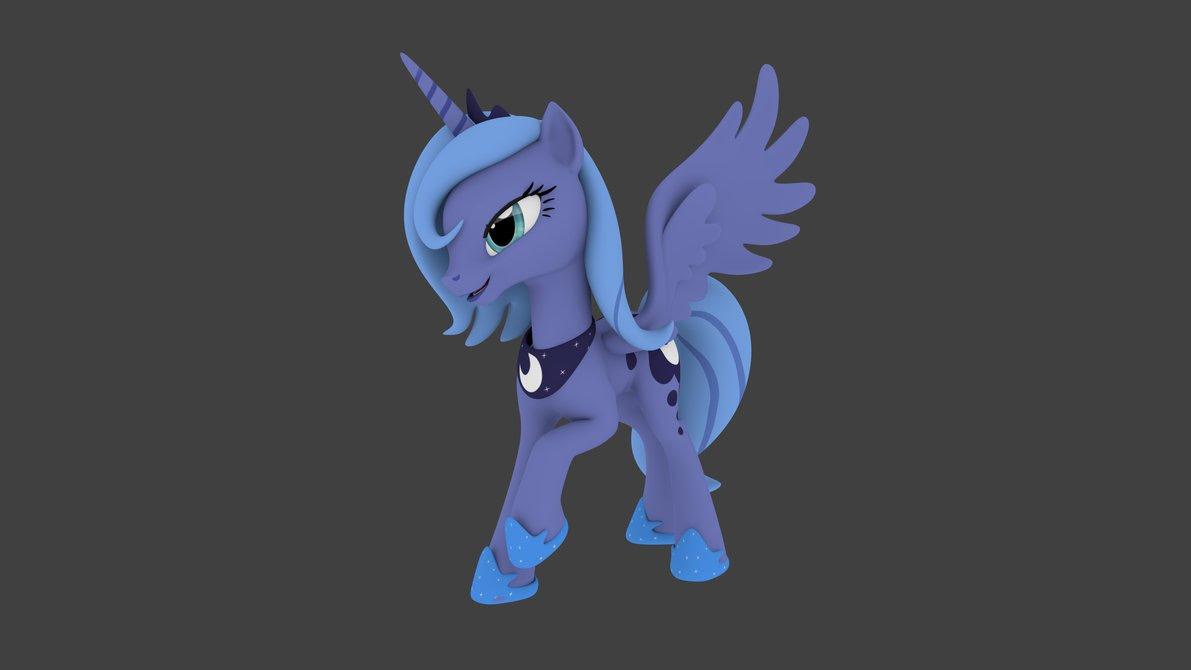 My Little Pony Friendship Is Magic 3D Gambar 3D Luna HD Wallpaper