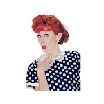 Fun World I Love Lucy Wig Adult Halloween Women's Accessory, Red, OS