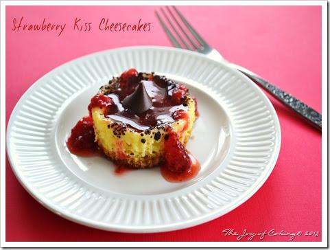 Strawberry Kiss Cheesecakes