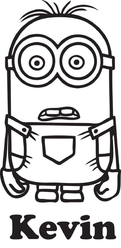 Minion Outline Drawing | Free download on ClipArtMag