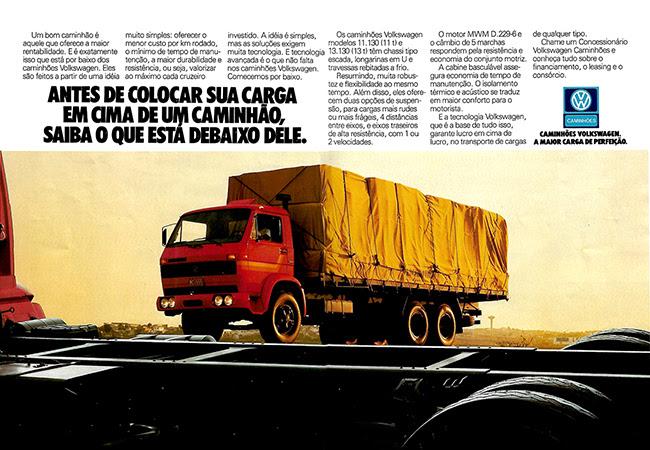 INCRÍVEL: 15 propagandas antigas de caminhões