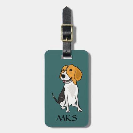 AK- Awesome Beagle Luggage Tag