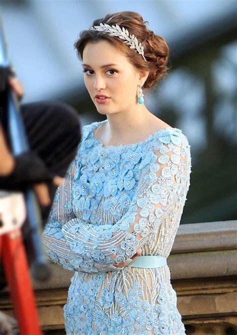 elie saab bridal blair waldrof dress   fashion dress blue
