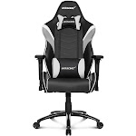 AKRACING LX - Chair - armrests - T-shaped - swivel - metal, high-density foam, PU synthetic leather - white